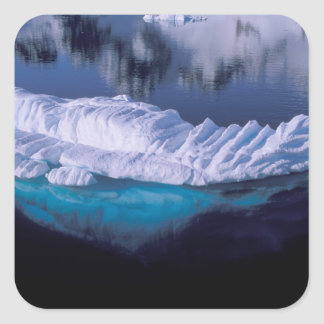 Antarctica, Paradise Bay. Iceberg in crystal Square Stickers