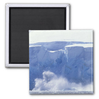 Antarctica, Paradise Bay, Massive wave forms 2 Inch Square Magnet