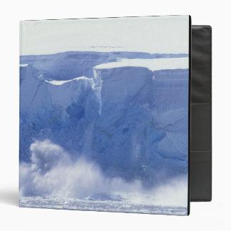 Antarctica, Paradise Bay, Massive wave forms 3 Ring Binder