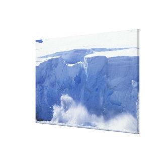 Antarctica, Paradise Bay, Massive wave forms Canvas Print