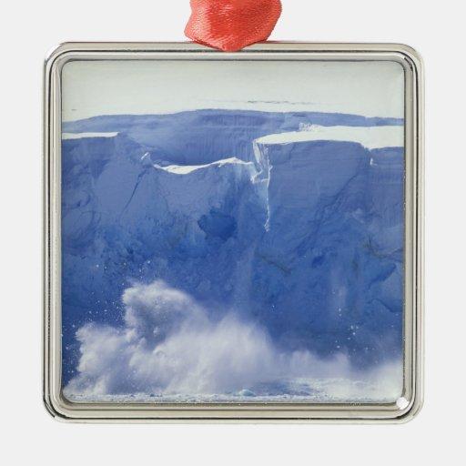 Antarctica, Paradise Bay, Massive wave forms Christmas Ornaments