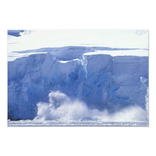 Antarctica, Paradise Bay, Massive wave forms Photo Print
