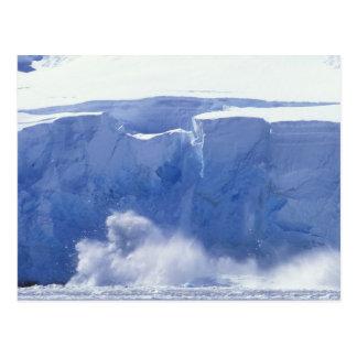Antarctica, Paradise Bay, Massive wave forms Postcard