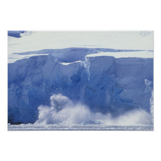 Antarctica, Paradise Bay, Massive wave forms Poster
