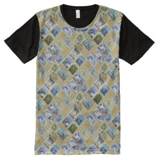 Antarctica Penguin Stamps All-Over Print T-shirt
