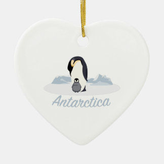 Antarctica Penguins Ceramic Ornament