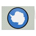 Antarctica quality Flag Circle Greeting Cards