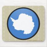 Antarctica quality Flag Circle Mousepad