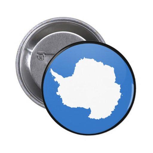 Antarctica quality Flag Circle Pins