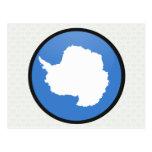Antarctica quality Flag Circle Post Card