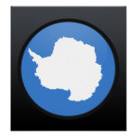 Antarctica quality Flag Circle Posters