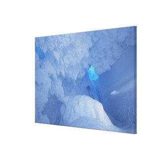 Antarctica Ross Island Cape Evans Snow cave Canvas Print