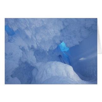 Antarctica Ross Island Cape Evans Snow cave Card