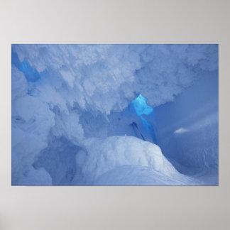 Antarctica Ross Island Cape Evans Snow cave Poster