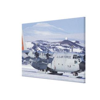 Antarctica Ross Island McMurdo station C-130 Canvas Print