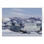 Antarctica, Ross Island, McMurdo station, C-130 Greeting Cards