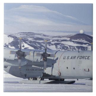 Antarctica, Ross Island, McMurdo station, C-130 Ceramic Tile