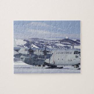 Antarctica, Ross Island, McMurdo station, C-130 Jigsaw Puzzle