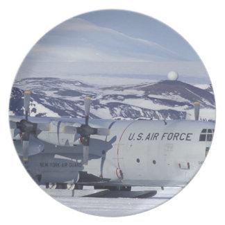 Antarctica, Ross Island, McMurdo station, C-130 Melamine Plate