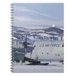 Antarctica, Ross Island, McMurdo station, C-130 Note Book