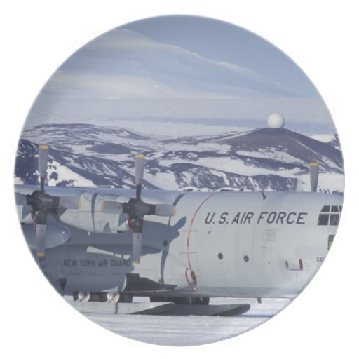 Antarctica, Ross Island, McMurdo station, C-130 Plates