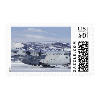 Antarctica, Ross Island, McMurdo station, C-130 Postage