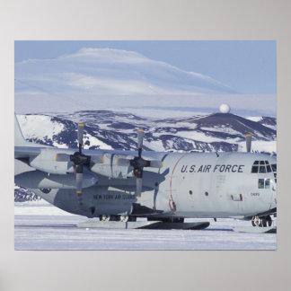 Antarctica, Ross Island, McMurdo station, C-130 Poster