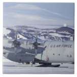 Antarctica, Ross Island, McMurdo station, C-130 Tile