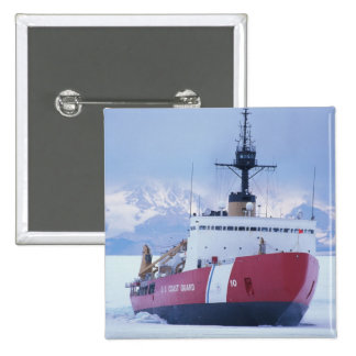 Antarctica, Ross Island, McMurdo Station, USCG 2 Inch Square Button
