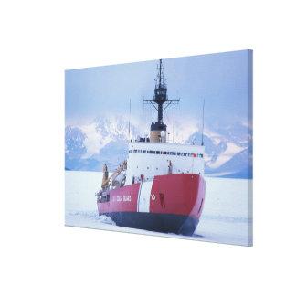 Antarctica, Ross Island, McMurdo Station, USCG Canvas Print