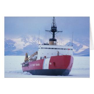 Antarctica, Ross Island, McMurdo Station, USCG Card