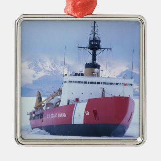 Antarctica, Ross Island, McMurdo Station, USCG Metal Ornament