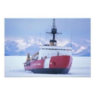 Antarctica, Ross Island, McMurdo Station, USCG Photo Print