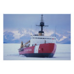 Antarctica, Ross Island, McMurdo Station, USCG Poster