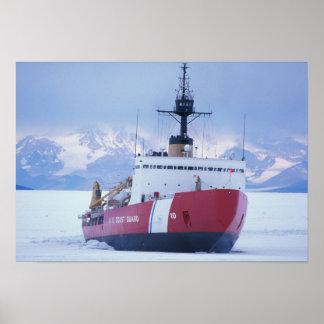 Antarctica, Ross Island, McMurdo Station, USCG Poster