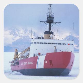 Antarctica, Ross Island, McMurdo Station, USCG Square Sticker