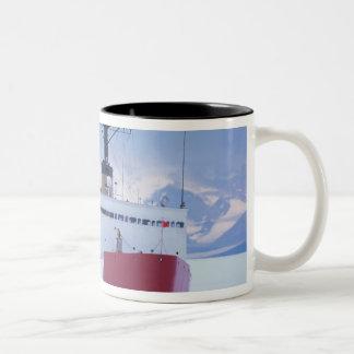 Antarctica, Ross Island, McMurdo Station, USCG Two-Tone Coffee Mug