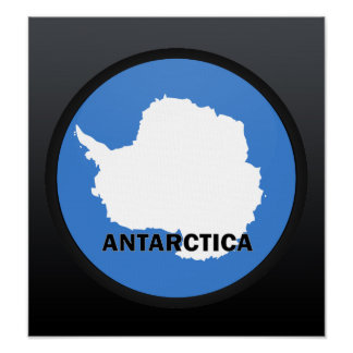 Antarctica Roundel quality Flag Poster