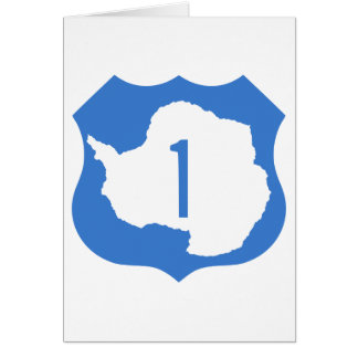 Antarctica Route 1 Highway Sign Card