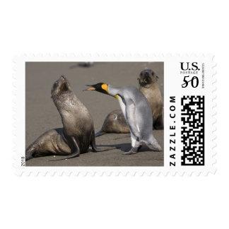 Antarctica, South Georgia Island (UK), King 3 Postage
