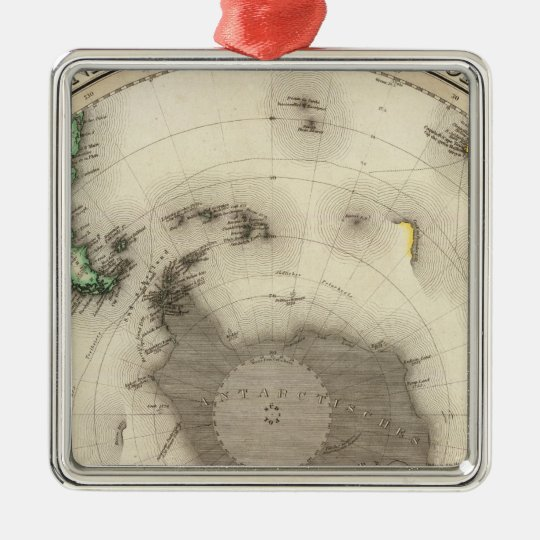 Antarctica, Southern Hemisphere Metal Ornament