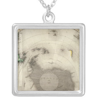 Antarctica, Southern Hemisphere Silver Plated Necklace