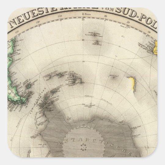 Antarctica, Southern Hemisphere Square Sticker