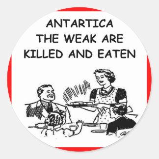 antarctica round sticker