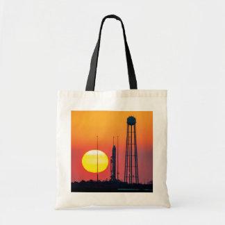 Antares Rocket at Sunrise Canvas Bag