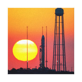 Antares Rocket at Sunrise Gallery Wrap Canvas