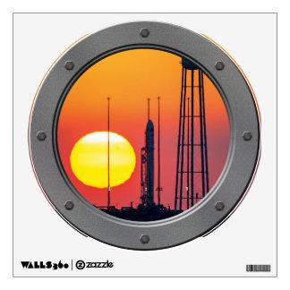 Antares Rocket at Sunrise Wall Decor