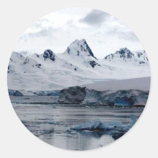 Antartic Landscape Round Stickers