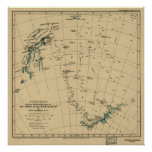 """Antartic Regions """"Drift of the Endurance"""" 1918 Map Posters"""