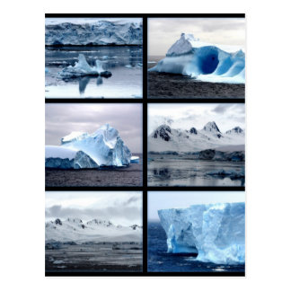 Antartica asombrosamente hermoso postal